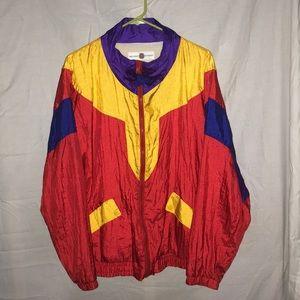 Vintage Multi Colored Windbreaker Jacket